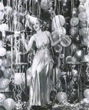 Partying in das neue Jahr lizenzfreie stockbilder