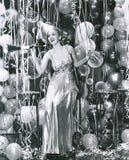 Partying in das neue Jahr lizenzfreies stockfoto