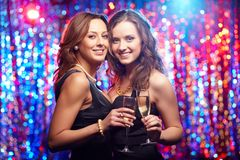 Partying friends Royalty Free Stock Photo