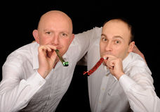 Partying Männer Lizenzfreie Stockfotografie