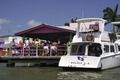 Partying on the waterfront in Belize City, Belize Stock Photo