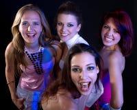 Partying women Stock Photo