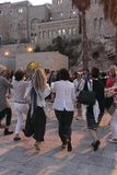 Partying women during Shabbat in Jerusalem Stock Photos