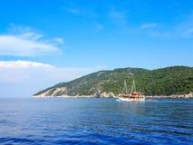 Partyjna łódź w Chorwacja Zdjęcie Royalty Free