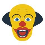 Partyjna błazen twarzy ikona Zdjęcie Stock