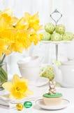 partyjna Easter herbata zdjęcie stock