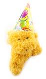 Partyjna handmade zabawka na białym tle Zdjęcia Royalty Free