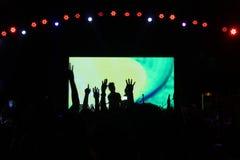 Partyjna muzyka i Bokeh światła Zdjęcie Royalty Free