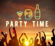 Partyjna nocy życia zabawa Cieszy się pojęcie obraz royalty free
