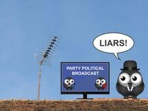 Partyjna Polityczna transmisja zdjęcie stock