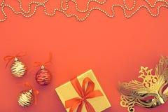 Partyjna tło dekoracja szczęśliwy maski maskarady nowy rok Fotografia Royalty Free