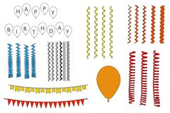 Partyjne dekoracje Zdjęcie Royalty Free