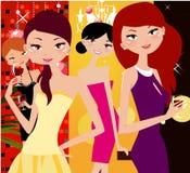 Partyjne dziewczyny ilustracja wektor