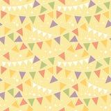 Partyjnej dekoraci chorągiewki Bezszwowy wzór Zdjęcie Stock