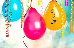 Partyjni balony obrazy royalty free