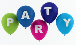 Partyjni balony literuje przyjęcia Obrazy Stock
