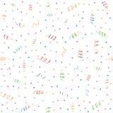 partyjni confetti streamers Zdjęcia Royalty Free