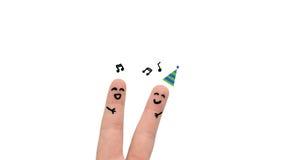 Partyjni ludzie palców Fotografia Stock
