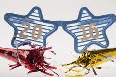 Partyjni okulary przeciwsłoneczni z 2016 podtytułem Fotografia Stock
