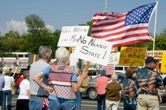 partyjni protestujący opodatkowywają herbaty obrazy stock