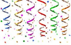 partyjni streamers Fotografia Stock