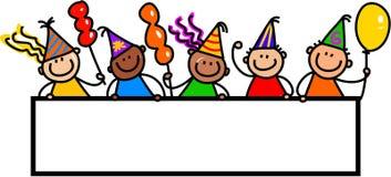 Partyjni sztandarów dzieciaki Obraz Royalty Free