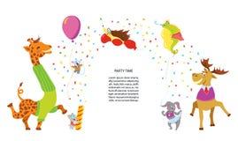 Partyjni zwierzęta wektorowi zdjęcie royalty free