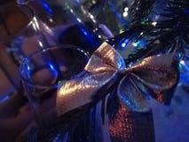 Partyjny czasu wina szkła drzewo zdjęcie royalty free
