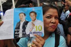 Partyjny Demokrata tajlandzki Zwolennik Obraz Stock