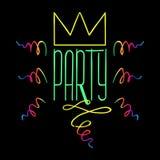Partyjny Handdrawn plakat Zdjęcie Stock