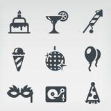 Partyjny ikona set Fotografia Stock