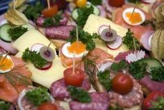 partyjny jedzenia przyjęcie Obrazy Stock