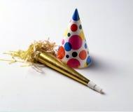 Partyjny kapeluszu i papieru róg Zdjęcie Stock