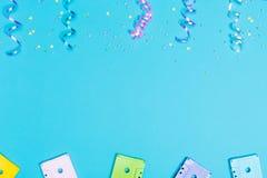Partyjny muzyczny temat z kaset taśmami Obraz Royalty Free