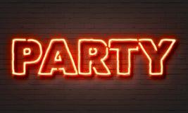 Partyjny Neonowy znak ilustracji