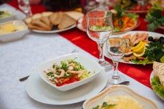 Partyjny przyjęcie, dekorujący deserowy sert stół Zdjęcia Royalty Free