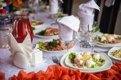 Partyjny przyjęcie, dekorujący pustynia stół Obraz Royalty Free