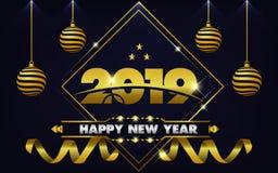 Partyjny rok 2019 royalty ilustracja