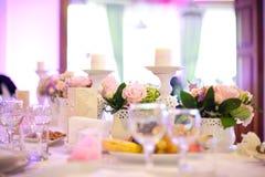 Partyjny stołowy położenie Zdjęcia Stock