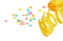 Partyjny Streamer i confetti Obrazy Royalty Free