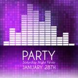 Partyjny zaproszenie Zdjęcie Stock
