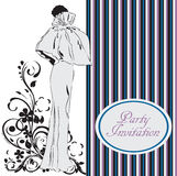 Partyjny zaproszenie Zdjęcia Royalty Free