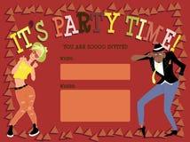 Partyjny zaproszenie szablon Obraz Royalty Free