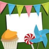 Partykarte Lizenzfreies Stockbild