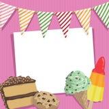 Partykarte stock abbildung