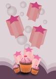 Partykuchenhintergrund Stockfoto