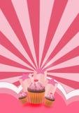 Partykuchenhintergrund Stockbild