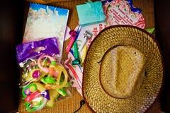 Partypfeife mit Hut Stockfoto