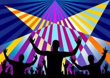 Partypublikums-Kronenhintergrund Stockbild