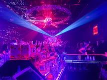 Partytime przy noc klubem zdjęcie stock